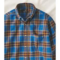 綿100%先染めチェック柄フランネルシャツ(ボタンダウン仕様)