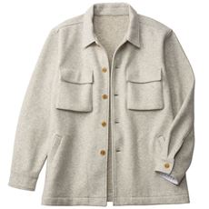 ふんわりメルトンのCPOシャツジャケット