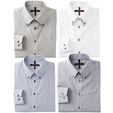 抗菌防臭機能付き・形態安定デザインYシャツ(ゆったりシルエット)