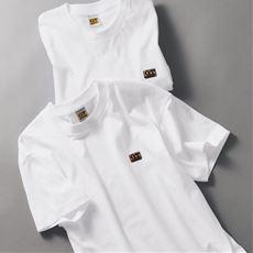 同色2枚組 綿100%半袖Tシャツ/クルーネック(G.T.ホーキンス)