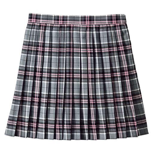 丈が選べる日本製プリーツスカート(防しわ)(洗濯機OK)(チェック柄)(スクール・制服)