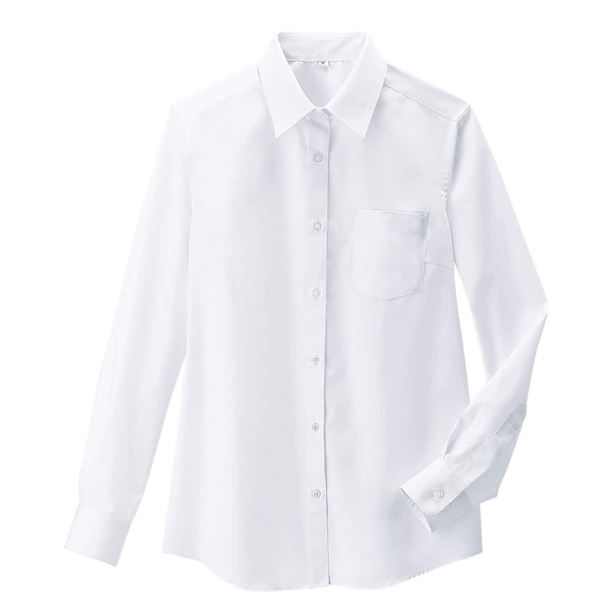 透けにくい長袖シャツ(抗菌防臭・UVカット)(スクール・制服)