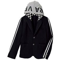 卒業式・入学式に!ダンボールニットフード付きジャケット(男児)(スクール・制服)