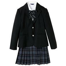 スーツ4点セット(ジャケット+シャツ+スカート+リボン)(スクール・制服)