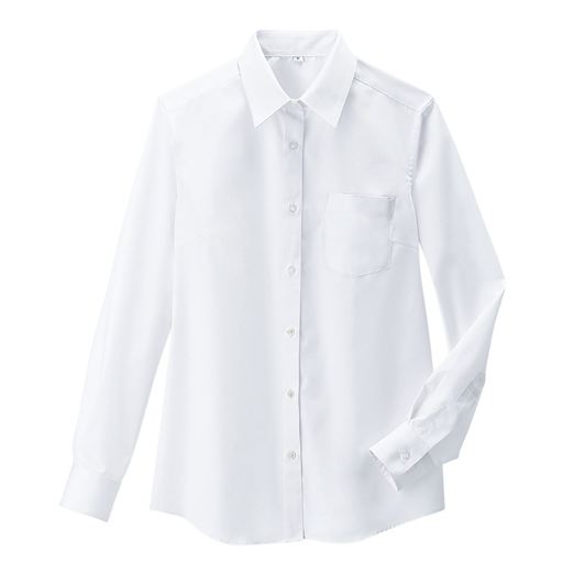 透けにくい長袖シャツ(抗菌防臭・UVカット)(形態安定)(スクール・制服)