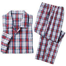 シャツパジャマ(男女兼用)/綿100%ブロード織