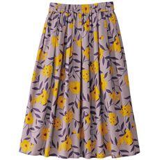 【ぽっちゃりさんサイズ】花柄スカート