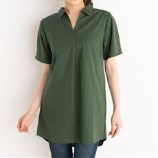 【NET限定】衿付スキッパーシャツチュニック