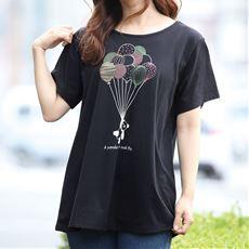 【ネット限定】バルーンプリントAラインTシャツ