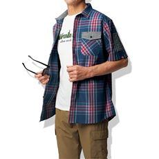 半袖チェックシャツ(キャプテンスタッグ)