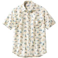日本製・綿100%サッカー素材シャツ