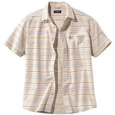 抗菌・防臭・胸刺繍ボーダーシャツ(UPレノマ)