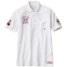 隠れ人気アイテム・ドライ鹿の子素材の刺繍使いポロシャツ