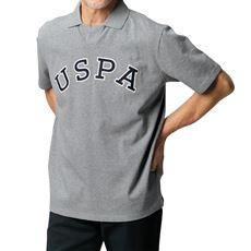 綿100%刺繍使いスキッパーポロ(USポロアッスン)