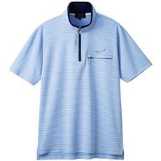 胸刺繍ハーフジップシャツ(グレッグ・ノーマン)