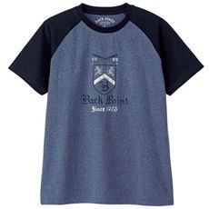 綿100%ラグランスリーブプリントTシャツ