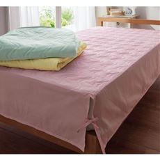 平織り置くだけパッド付きベッドシーツ(表生地綿100%)/洗濯に強い丈夫な生地