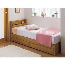 引き出し付きベッド/2口コンセント付き