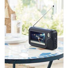 ポータブルテレビラジオ(3電源対応/コンセント・電池・手巻き発電)