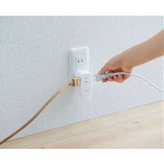 LEDライト付きコンセントタップ/停電時自動点灯