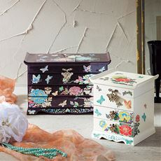 美しい螺鈿細工のジュエリーボックス