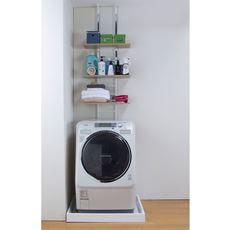 突っ張り式洗濯機ラック(棚板3枚)