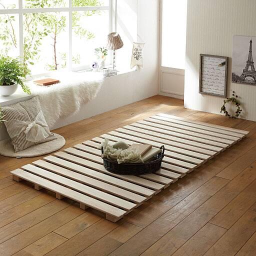 ロール式すのこベッド(高さ5cm)