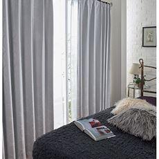 【イージーオーダー】【形状記憶】1級遮光カーテン(遮熱保温・遮音・上品な光沢感のサークル柄)