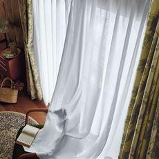 国産2倍ヒダレースカーテン(バラとストライプ柄・UVカット遮熱保温・遮像)