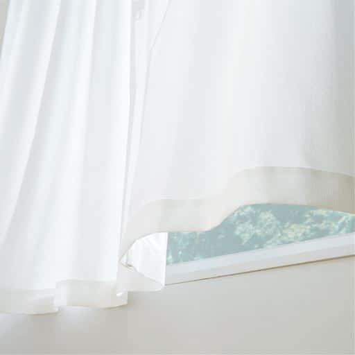 〔形状記憶付き〕ミラーレースカーテン(花粉キャッチ)