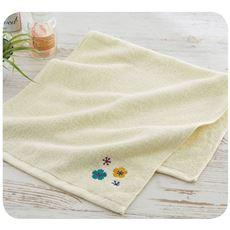 刺繍がかわいいタオル 優しい肌触りと吸水性