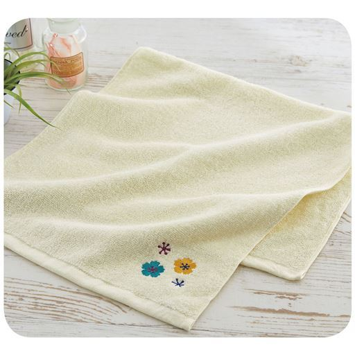 【今治産】刺繍がかわいいタオル 優しい肌触りと吸水性