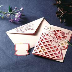 頒布 伝統模様で華やぐ切り絵のお便りコレクション
