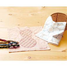頒布 草木で染めた糸で楽しむ大槌刺し子ふきんコレクション
