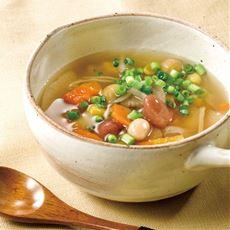 お豆と野菜のごろっとおかず生姜スープ(10食入)/湯せん レンジでチン