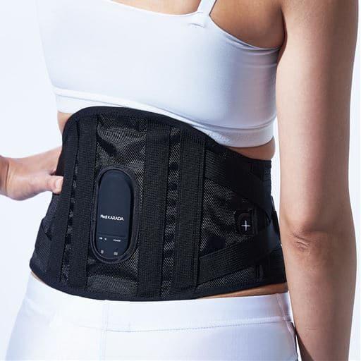 MediKARADA 腰用/ヤーマン EMS(電流で筋肉を刺激する運動) サポーター 充電式コードレス オートオフ