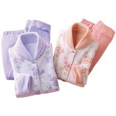 首元ぬくぬく暖かパジャマ(色違い2枚組)