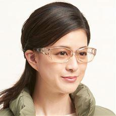 目元・目尻もカバー 薄色レンズのマスクグラス
