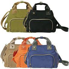 ガバッと開く財布機能付き2wayバッグ