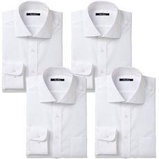 形態安定ビジネスシャツ(長袖4枚組)