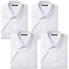 形態安定ビジネスシャツ(半袖4枚組)