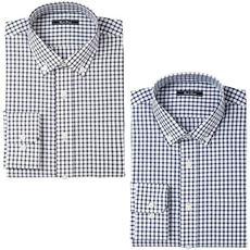 先染めカジュアルシャツ(長袖2枚組)