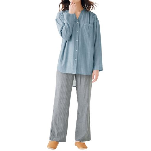 ダブルガーゼの巣ごもりパジャマ(綿100%)