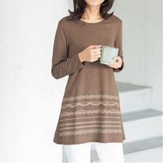 プリントロングフレアTシャツ(洗濯機OK・綿混)
