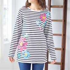 綿100%プリントTシャツ(やわらかい肌ざわり)