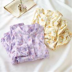 日本製のニットガーゼパジャマ(綿100%)