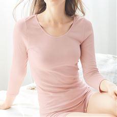 肌あたり優しい綿100%接結8分袖インナー(日本製)