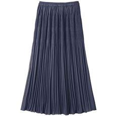 部分プリーツロングスカート