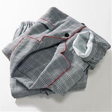 綿100% ダブルガーゼシャツパジャマ(パンツ前開き)