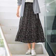 【ぽっちゃりさんサイズ】マジョリカプリーツスカート
